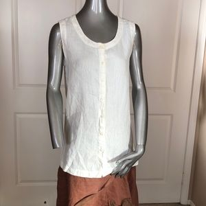 Banana Republic Irish Linen Sleeveless Blouse